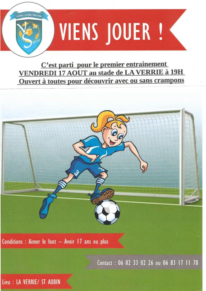 Affiche feminine entrainement