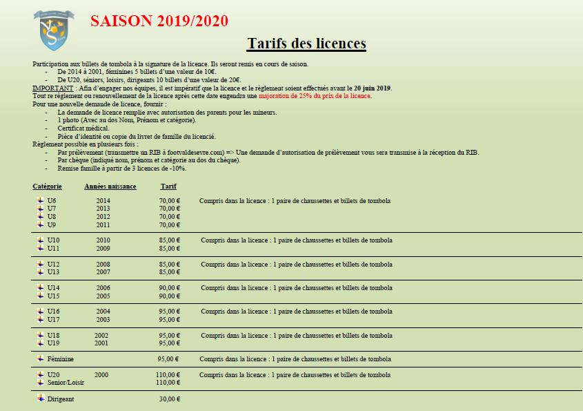 Tarif_Licence2019-2020