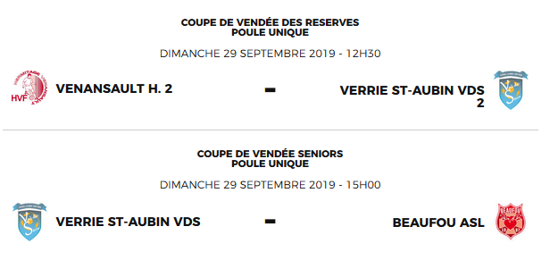 Coupe de Vendée 2emeTour