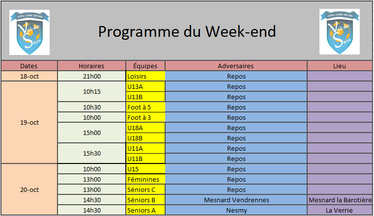 ProgrammeWeekend26-27Oct