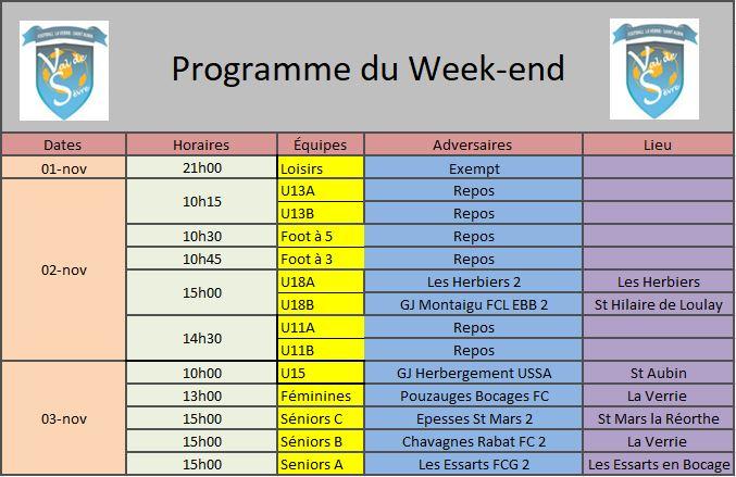 Programme Week-end 02-11