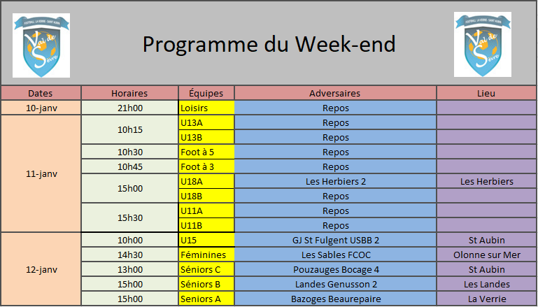 ProgrammeWeekend11-12Jan