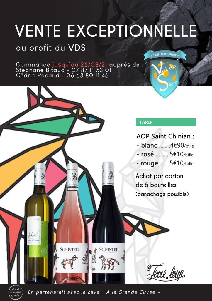 affiche vente vin